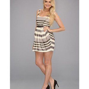 BCBGeneration Striped Shimmer Mini Dress